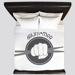 Fist With Drum Stick King Duvet
