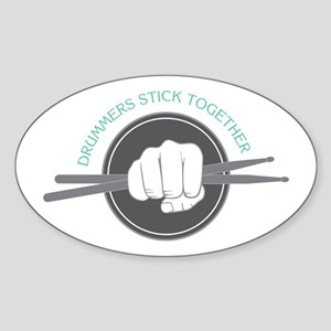 Fist With Drum Stick Sticker