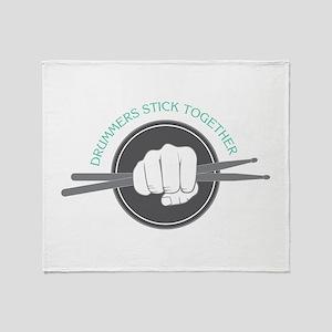 Fist With Drum Stick Throw Blanket