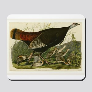 Audubon Wild Turkey Vintage Birds of America Mouse