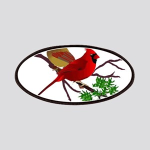 Cardinal Couple on a Branch Patches