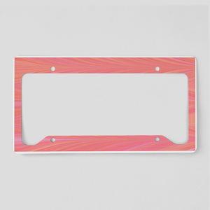 Pastle Pink Zigzag License Plate Holder