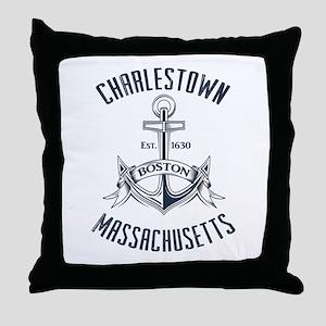 Charlestown, Boston MA Throw Pillow
