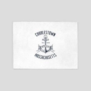 Charlestown, Boston MA 5'x7'Area Rug