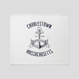 Charlestown, Boston MA Throw Blanket