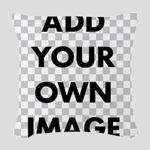 Custom Add Image Woven Throw Pillow