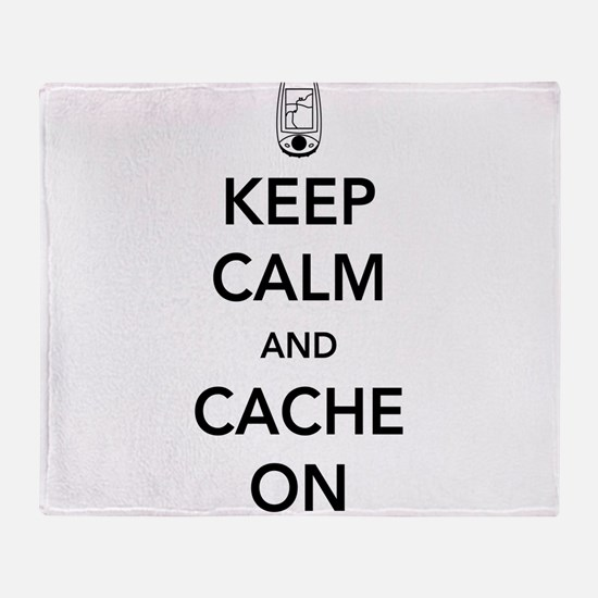 Keep and calm cache on Throw Blanket
