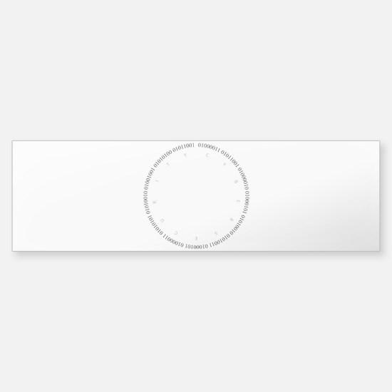 Cyber Security Gray Bumper Bumper Bumper Sticker