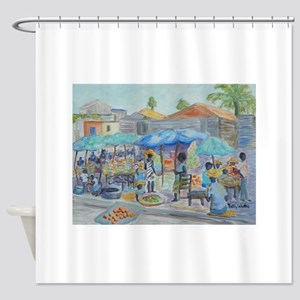 SHOPPING IN HAITI Shower Curtain