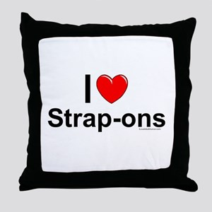 Strap-ons Throw Pillow