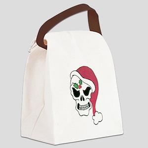 Santa Skull Canvas Lunch Bag