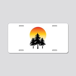 Moon Trees Aluminum License Plate