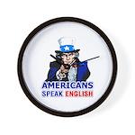 Americans Speak English Wall Clock