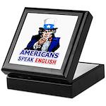 Americans Speak English Keepsake Box