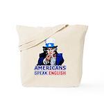 Americans Speak English Tote Bag