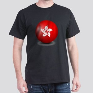 A soccer ball with the HongKong flag Dark T-Shirt