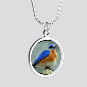 Bluebird in Oval Frame Necklaces