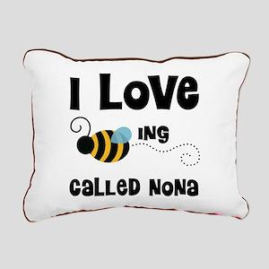 I Love Being Called Nona Rectangular Canvas Pillow
