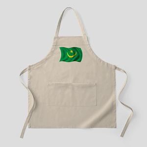 Wavy Mauritania Flag BBQ Apron