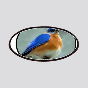 Bluebird in Oval Frame Patches