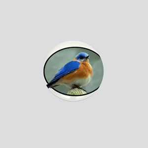 Bluebird in Oval Frame Mini Button
