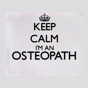 Keep calm I'm an Osteopath Throw Blanket