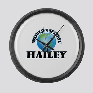 World's Sexiest Hailey Large Wall Clock