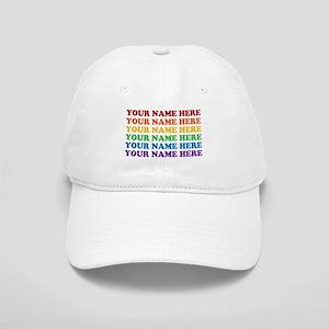 Rainbow Custom Text Cap