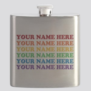 Rainbow Custom Text Flask