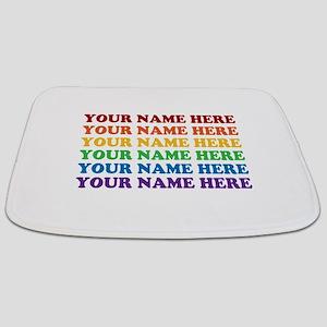 Rainbow Custom Text Bathmat