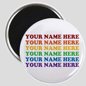 Rainbow Custom Text Magnet