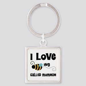 I Love Being Called MomMom Square Keychain