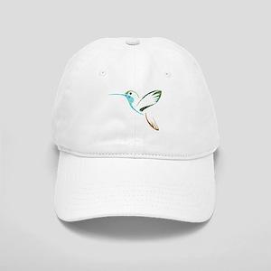 Blue and Green Patchwork Hummingbird Cap