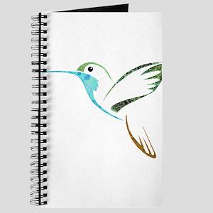 Blue and Green Patchwork Hummingbird Journal
