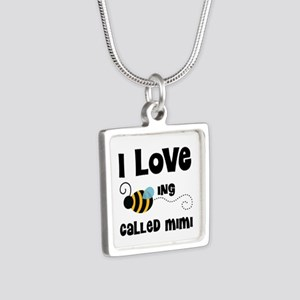 I Love Being Called Mimi Silver Square Necklace
