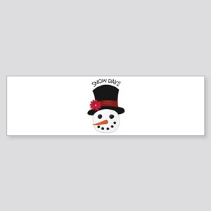 Snow Day Bumper Sticker