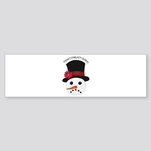 Today's Forecast Sunny Bumper Sticker