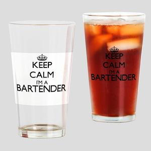 Keep calm I'm a Bartender Drinking Glass