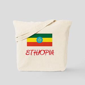 Ethiopia Flag Artistic Red Design Tote Bag
