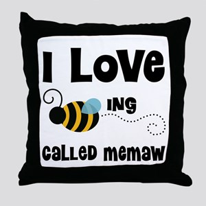 I Love Being Called Memaw Throw Pillow