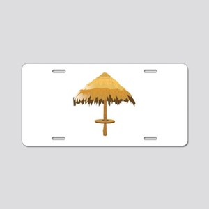 Tiki Umbrella Aluminum License Plate