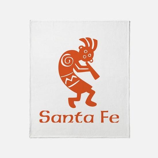 Santa Fe Kokopelli Throw Blanket