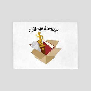College Awaits 5'x7'Area Rug