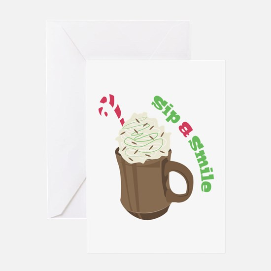 Sip A Smile Greeting Cards