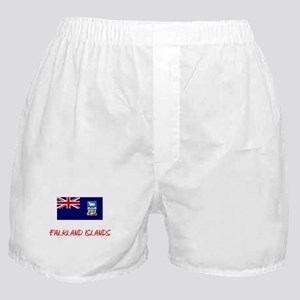 Falkland Islands Flag Artistic Red De Boxer Shorts