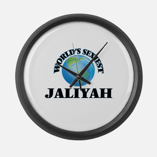 World's Sexiest Jaliyah Large Wall Clock