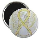 Yellow Ribbon Angel Magnets