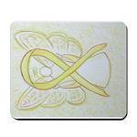 Yellow Ribbon Angel Mousepad