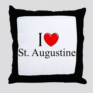 """I Love St. Augustine"" Throw Pillow"