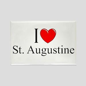 """I Love St. Augustine"" Rectangle Magnet"